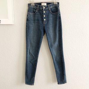 BALDWIN Kansas City Button Front High Rise Jeans